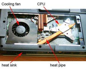 Curatare de praf laptop - sistemul de racire