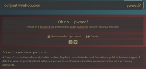 Cat de mult te protejeaza parola ta - Haveibeenpwned.com spune ca DA, adresa mea de e-mail a fost atacata