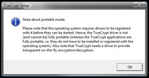 Criptarea datelor pentru protectia dispozitivelor de stocare - Nota despre varianta portabila