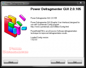 Modul de utilizare al programului Power Defragmenter - Power Defragmenter