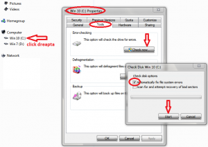 Programe de intretinere a hardului - Error Checking