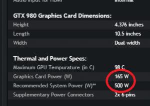 Criterii de selectare a sursei potrivite pentru computer - specificatii - puterea placii video